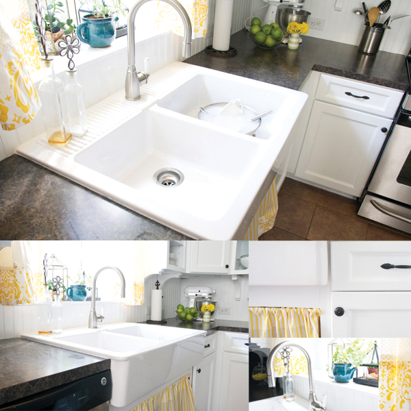 Ikea Farmhouse Sink Measurements ~ how to paint your kitchen cabinets + back them in bead board and not