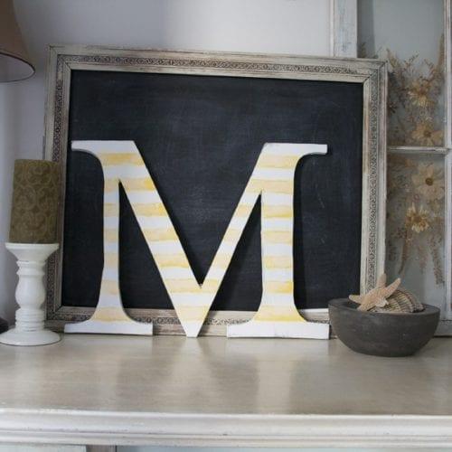 DIY : handmade letters