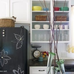 DIY : painting your fridge with chalkboard paint