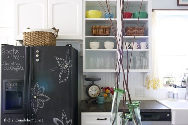 diy painting your fridge with chalkboard paint the handmade home. Black Bedroom Furniture Sets. Home Design Ideas