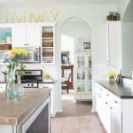 how to paint your kitchen cabinets + back them in bead board. and not die.