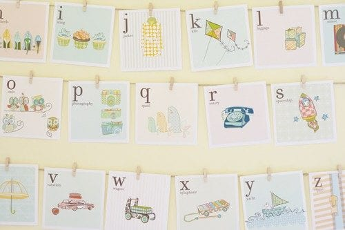 kids alphabet cards