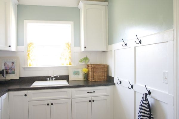 Our laundry room a board and batten how to for Board and batten kitchen cabinets