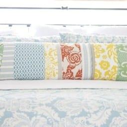DIY : a handmade patchwork lumbar pillow