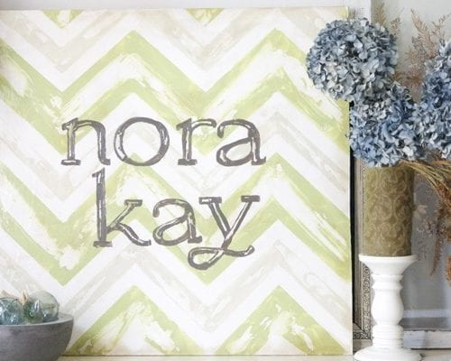 how to make a vintage chevron sign