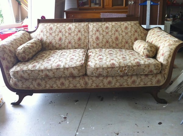 Duncan Phyfe Sofa Reupholstered Diddle Dumpling Before And After Antique Sofa Thesofa