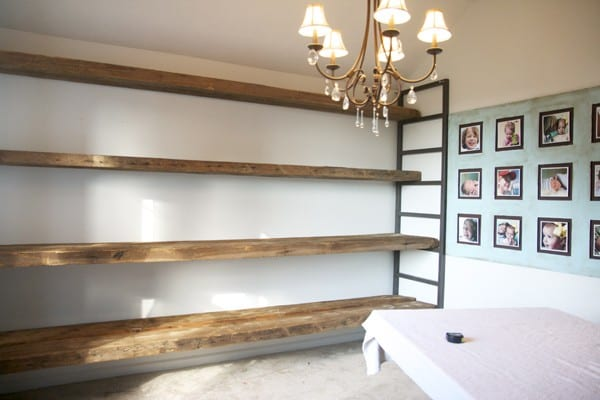 Reclaimed Wood And Metal Wall Shelves: How To Build Shelving From Reclaimed Wood
