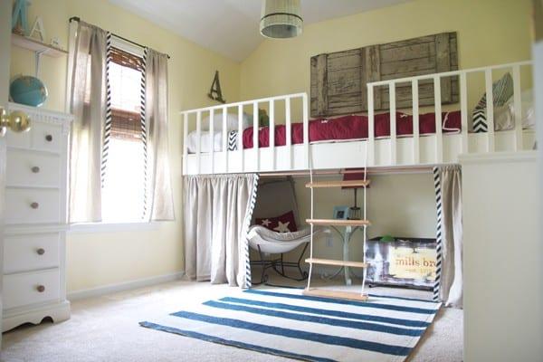 the boys' room : a loft + alcove
