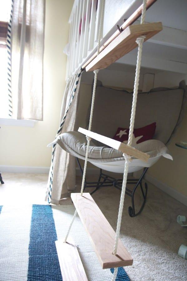 the boy 39 s room a loft alcove. Black Bedroom Furniture Sets. Home Design Ideas