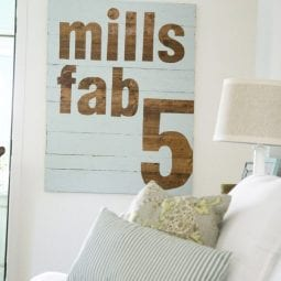 fab 5 sign : DIY