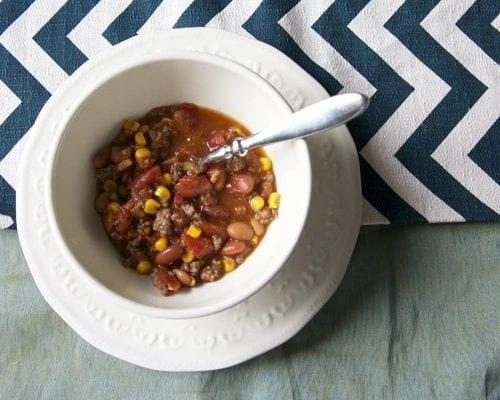taco soup + mexican cornbread