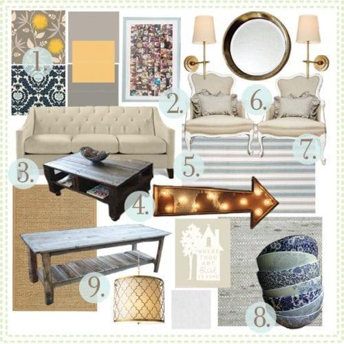 living room inspiration board : Jill's colonial
