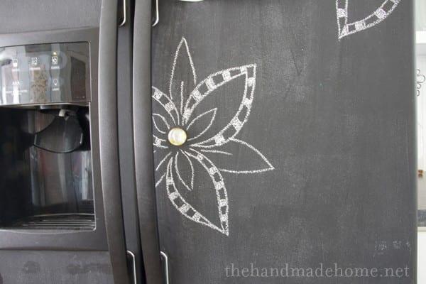Painting White Refrigerator Chalkboard Paint