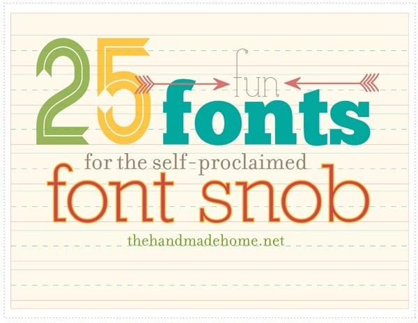 Fun Fonts - 25 Fun Fonts For the self-proclaimed font snob