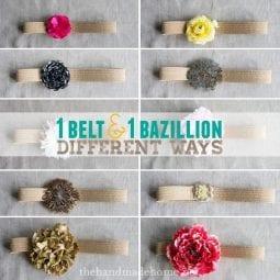 how to make a flower belt