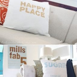 diy screen print pillows