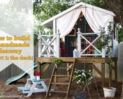 building a handmade hideaway : the diy deck