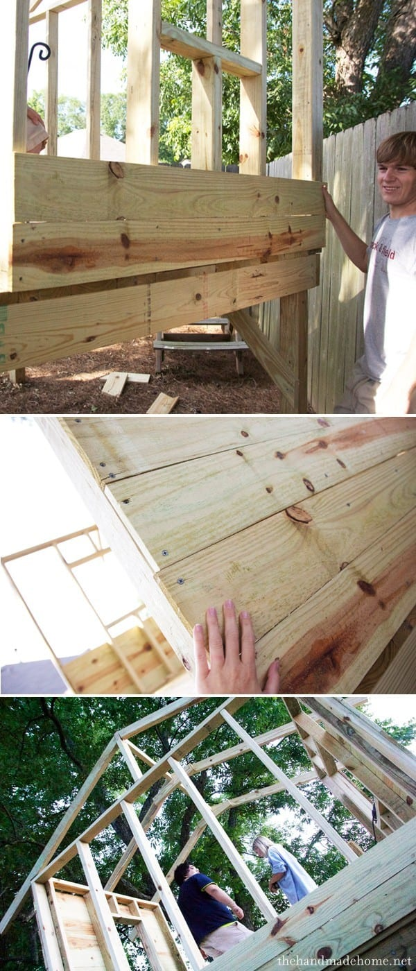 Building a handmade hideaway the walls for How to calculate board feet in a tree