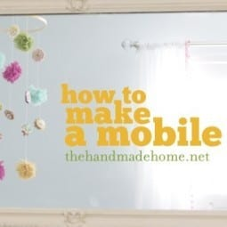 handmade nursery ideas : a diy mobile