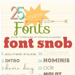 font snob club : 25 more fun fonts {july 2012}
