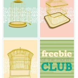 freebie of the month club : bird cages