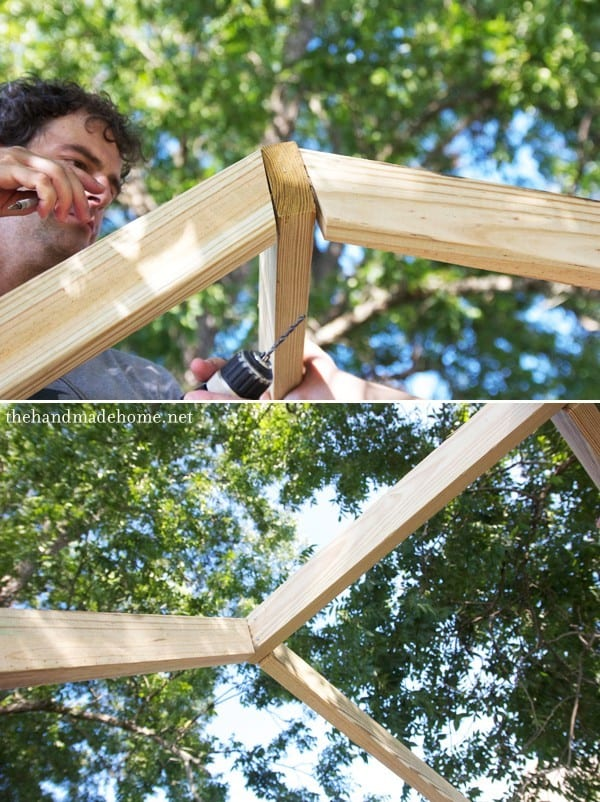 Building a handmade hideaway the roof how to build a for How to build an a frame home