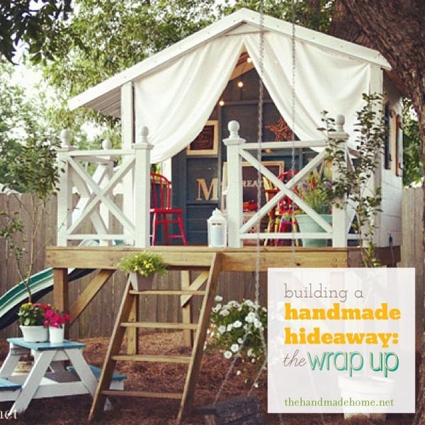 Building a handmade hideaway a wrap up post for How to build a treehouse roof