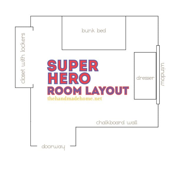 a super hero sanctuary + a freebie {shared space ideas}