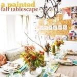 a painted fall tablescape (fall table ideas)