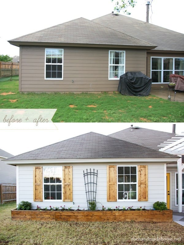 How to build shutters an easy diy project for great curb for How to build a cheap house on your own
