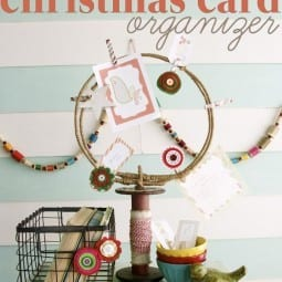 a handmade christmas card organizer (diy christmas card holder)