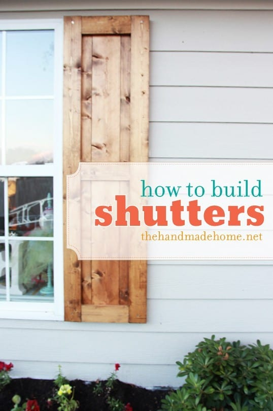 how to build shutters an easy DIY project for great curb appeal.
