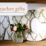 diy wall letters (handmade teacher gift ideas)