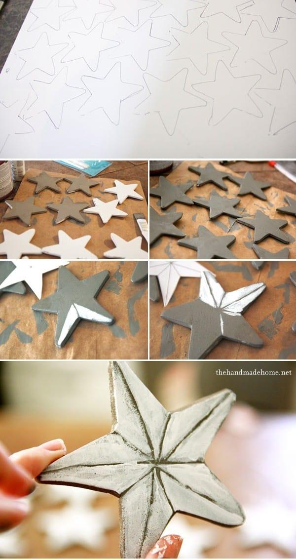 How To Make A Star Ornament Diy Star Decor