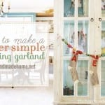 how to make a super simple stocking garland