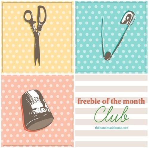 freebie of the month club : simple sewing art