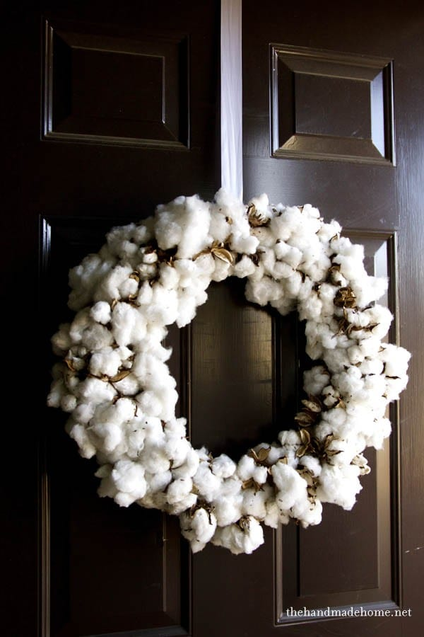 Popular natural elements : how to make a cotton wreath TQ31