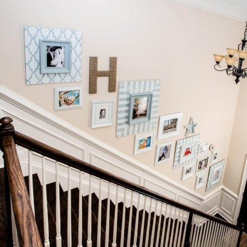 how to decorate a staircase {staircase picture gallery}