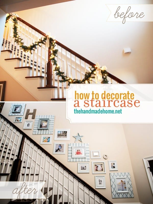 Ideas For Wall Decor On Stairs : How to decorate a staircase picture gallery