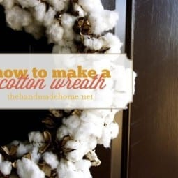 natural elements : how to make a cotton wreath