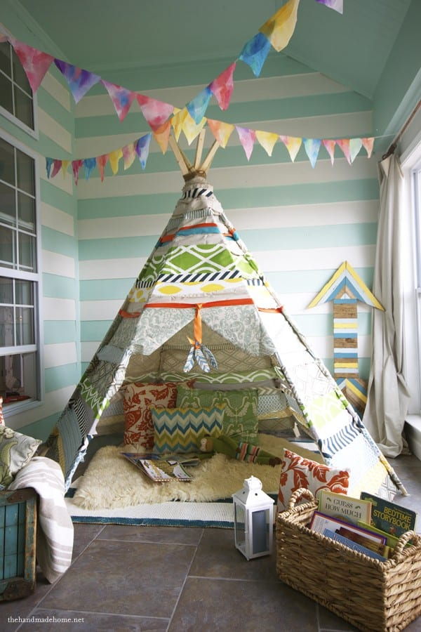 no sew tee pee - how to build