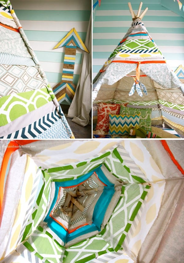 make your own no sew teepee