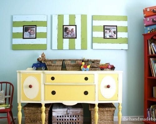 decorating with photos : a custom cork board