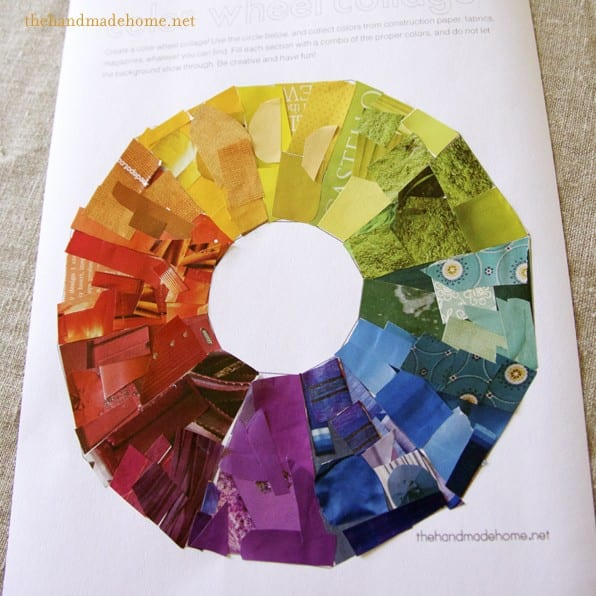 Color Wheel Collage Art Lesson