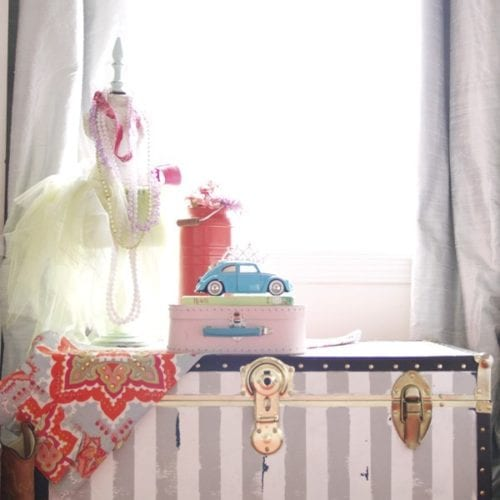 trunk makeover with chalk paint