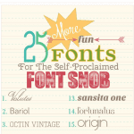 the font snob club : 25 more free fonts {may 2013}