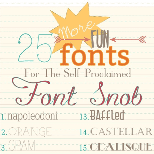 the font snob club : 25 more free fonts {july 2013}