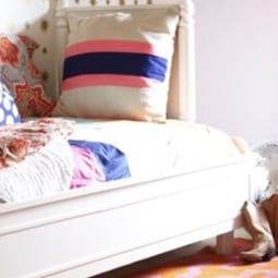 diy striped bedding