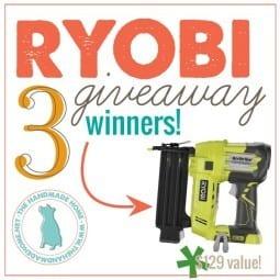 ryobi : a big fat giveaway {round 2!?!}