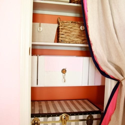 built in shelving, a closet makeover